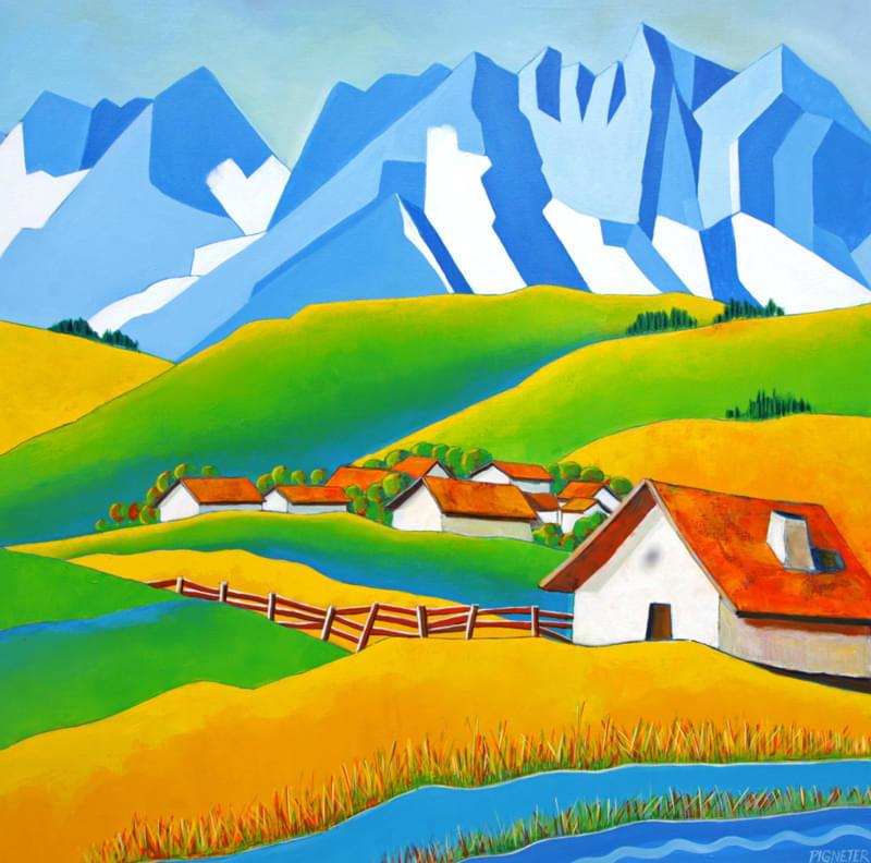 Berge und Bauern